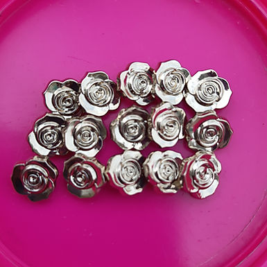15 Tiny Vintage Rose Buttons