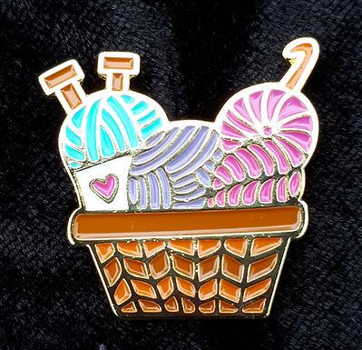 Knitting Basket Pin