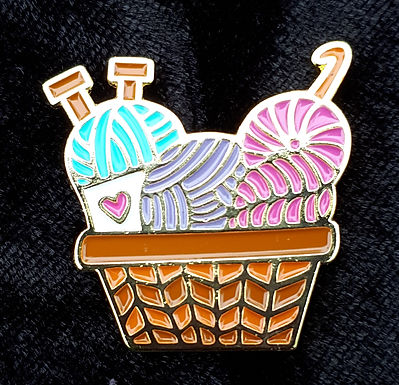 Knitting Basket Pin
