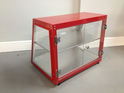 2418 Display Case Not Heated Red