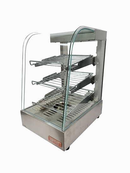 HeatMax 141823 Stainless and Curved Glass Food Warmer Display