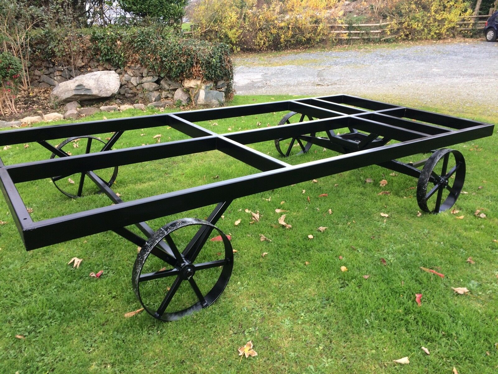 STF black painted chassis