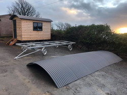 STF office, 14ft galvanised chassis and roofing sheets
