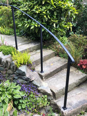 STF curved garden handrail