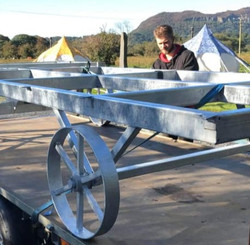 STF Dave building up the chassis