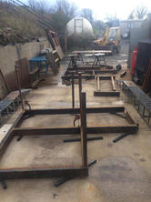 STF staircase landing mid fabrication