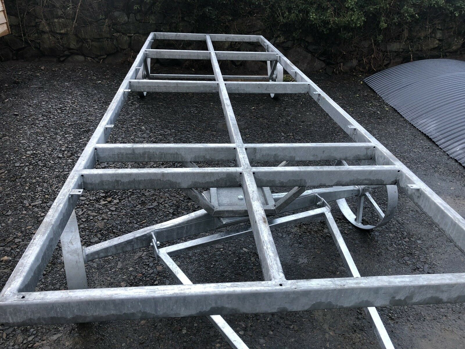 STF galvanised shepherds hut chassis