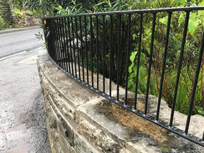 STF curved dwarf railings