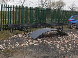 STF 18ft chassis and roofing sheet delivery