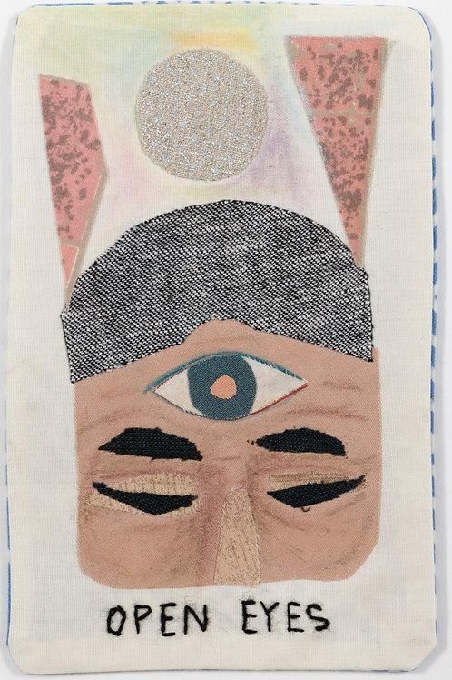 """Open Eyes"" fabric Tarot card by Megan Whitmarsh"