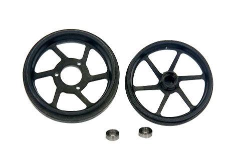 Non Gyro wheel and tyre set