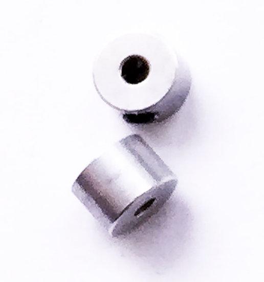 Steering damper spring lock