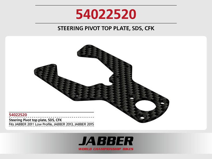 Mounting plate, steering head top, SDS 2.0, 16mm offset