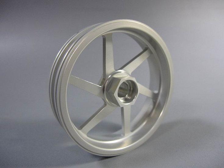 ZH Racing Z-201B Wheel 6 Spoke Grey Front