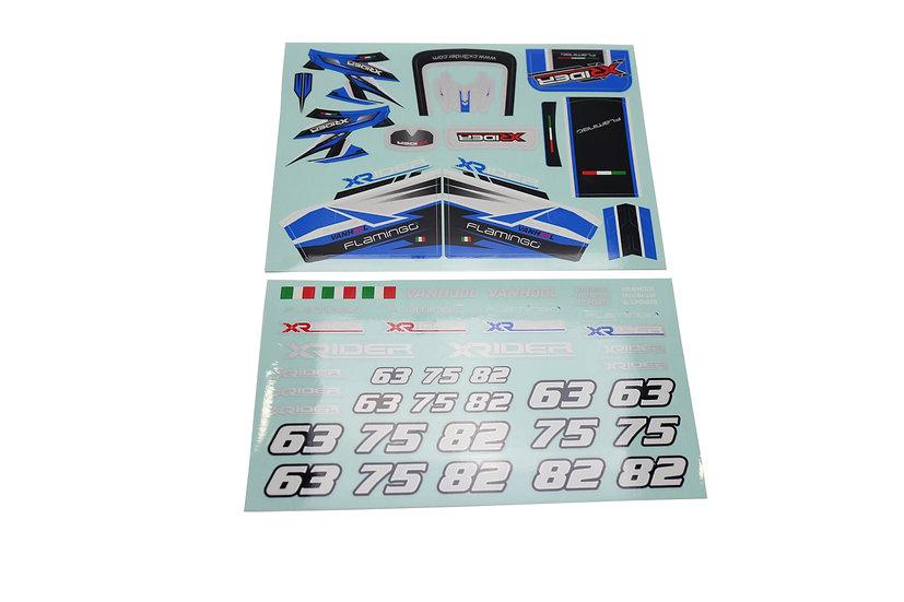X-Rider Flamingo sticker kit blue