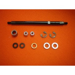 REAR WHEEL SHAFT WITH SPACERS