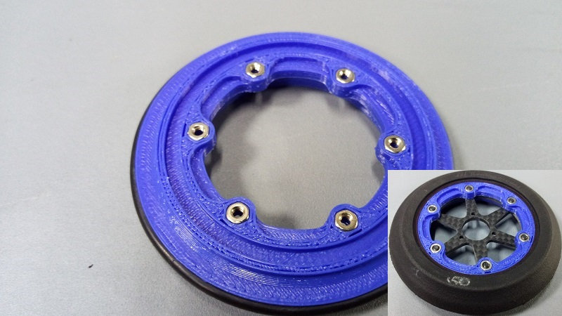ZH-Kyosho front rim/insert for carbon spokes
