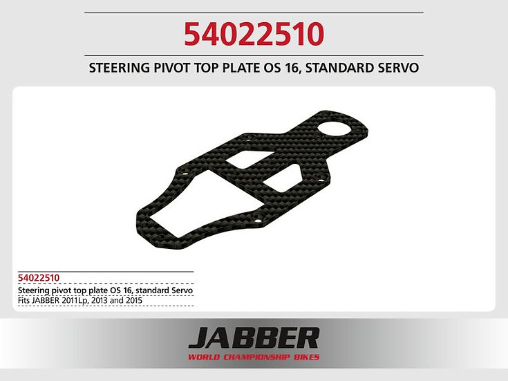 Mounting plate top steering, 16mm offset, CF Jabber 2013/2015