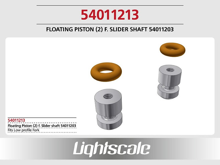 Lower opposite piston for Lightscale forks