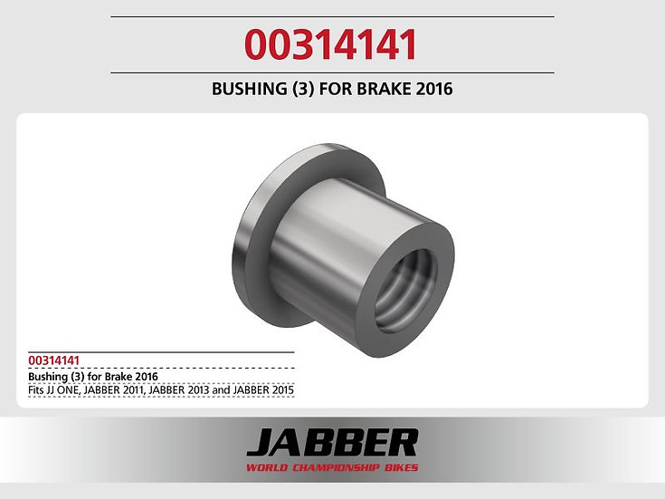 Sleeve (3), steel 3,1x4x4,1 with collar Jabber brake 2016