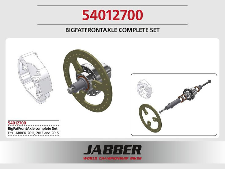 BFF Front wheel axle
