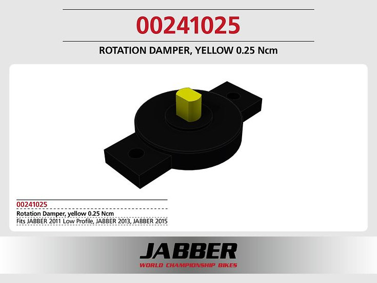 Rotating damper Yellow 0.25 Ncm SDS 2.0.
