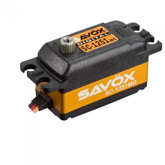 Savox Low Profile Super Speed Metal Gear Servo 1252MG