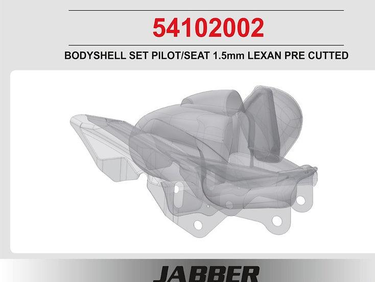 LIGHTSCALE Body Bike Pilot / Seat 1.5mm Lexan, cut out for JABBER Bike