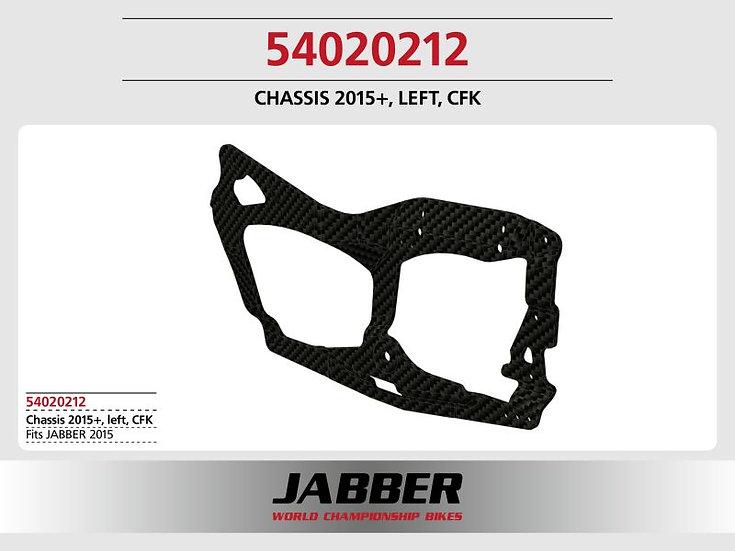 Molded chassis left side, CF JABBER 2015