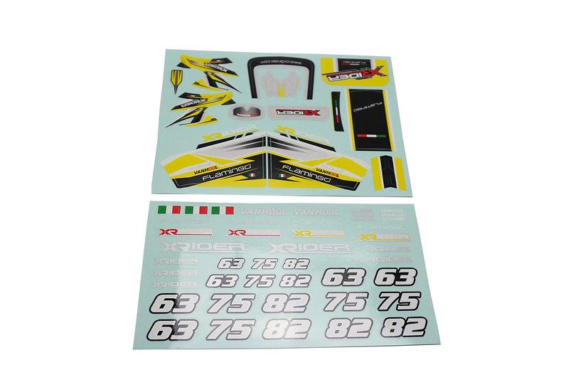 X-Rider Flamingo sticker kit yellow