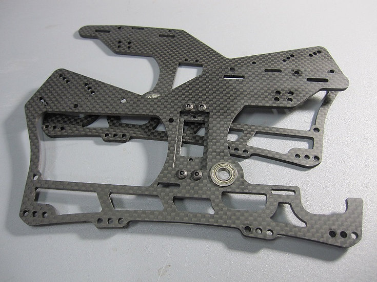 ZH-417B Carbon Chassis with bearings
