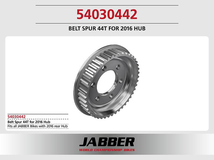 Rear pulley 44t S3M, Alu Jabber 2016