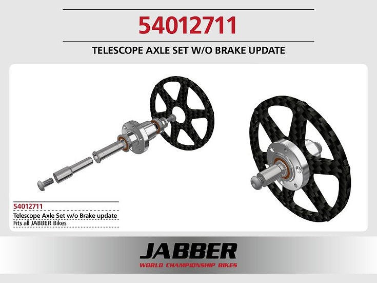 Telescopic axle set 2016, without brake update
