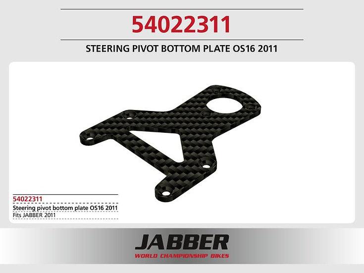 Mounting plate steering head, for 16 mm offset, CFK Jabber 2011