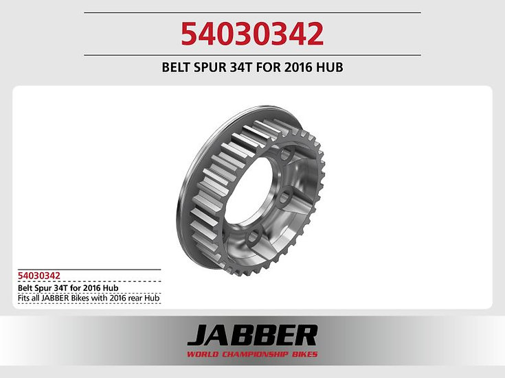 Rear Pulley 34T for 2016 Hub