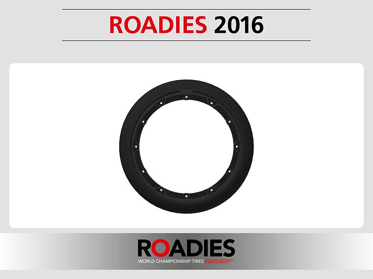 ROADIES Tyre Front B2, Vulcanised tyre on 2 piece rim.