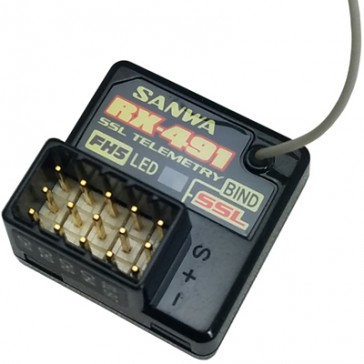 SANWA RX-491 Receiver 2.4 GHz FHSS5 Spread Spectrum System 4Ch