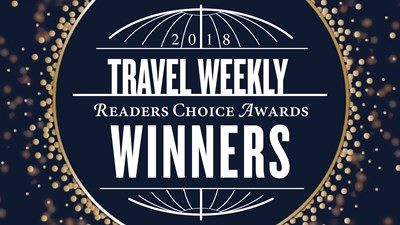 The winners of Travel Weekly's 2018 Readers Choice Awards