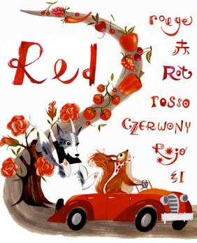 doodle dog red.