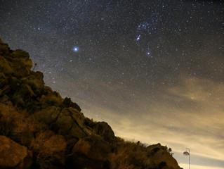 The Desert Sky at Night