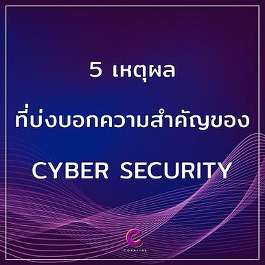 5 เหตุผล ที่บ่งบอกความสำคัญของ Cyber Security