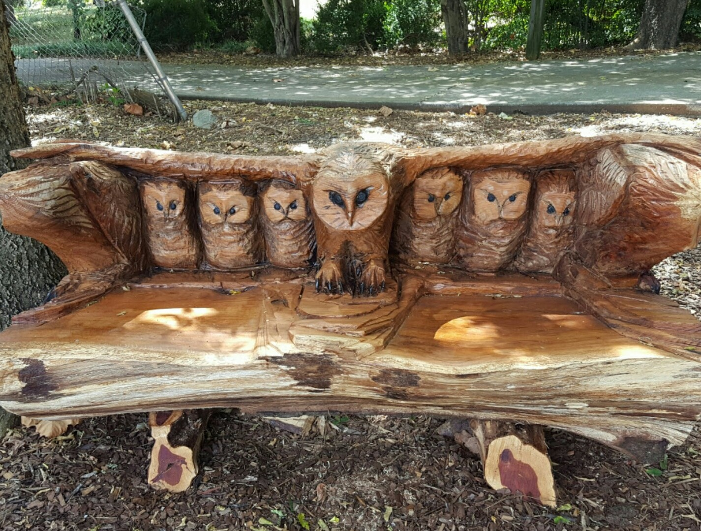Owl Bench by Justin Bailey