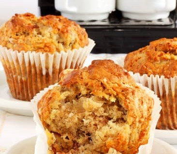 Trying to reduce your refined sugars? Try these banana oat muffins