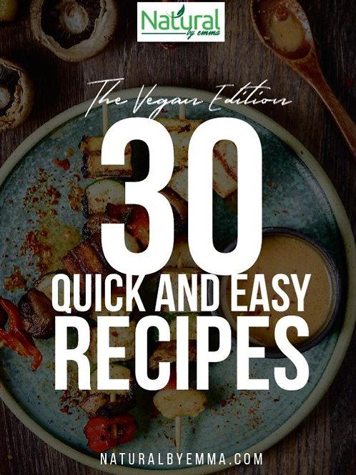 30 quick and easy vegan recipes - ebook