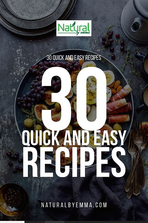 30 Quick and Easy recipes - ebook