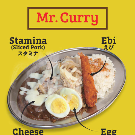 Increase your stamina with our special dish, Mr. Curry!