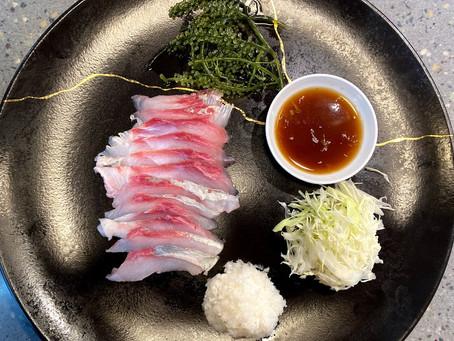 Locally Inspired Ponzu with Kona Kanpachi Sashimi