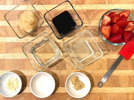 Strawberry Balsamic Vinaigrette with Kalena Ku + Kala'e