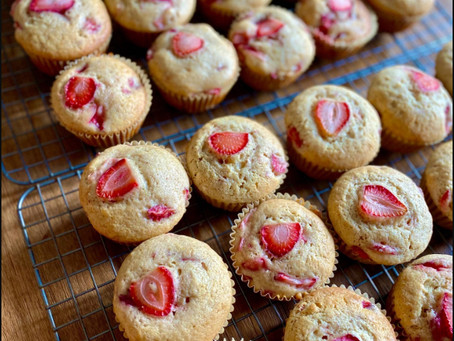 Strawberry Sour Cream Muffins - Submission by Keira Agdeppa