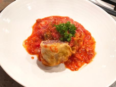 Ocean's Stuffed Cabbage with Smoked Pork Marinara